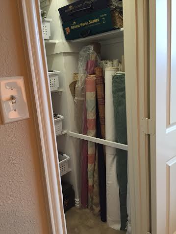 Fabric bolt storage