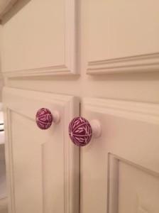 Bathroom knobs.