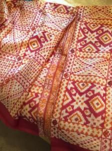 Sari as Bedskirt.
