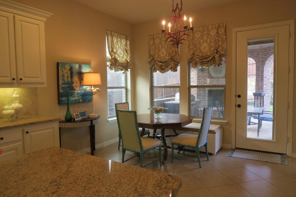 Updated Breakfast Room area.