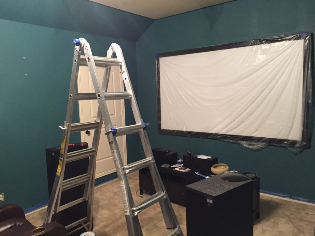 Media Room with new paint.