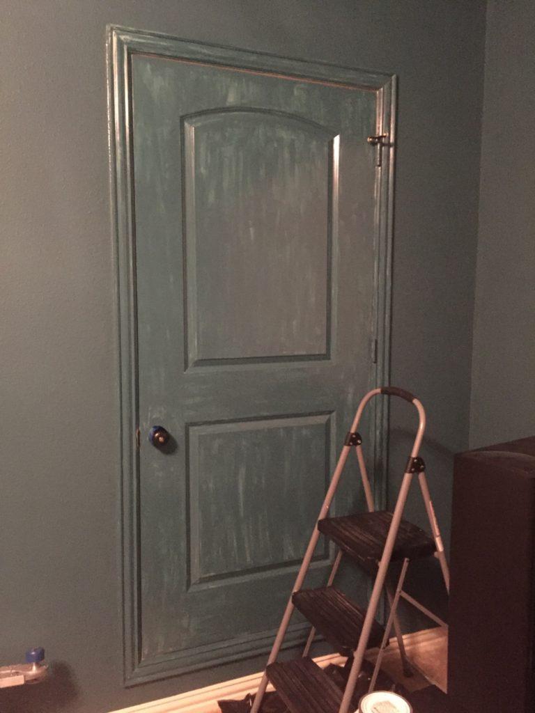 Painting the door...